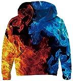 Boys Blue Hoodies Unisex Kids Sweatshirt for