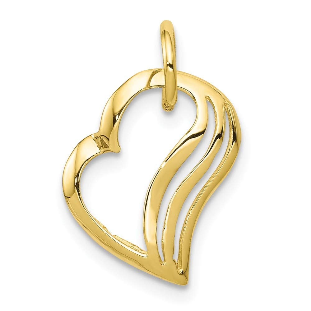 10k Yellow Gold Heart Charm