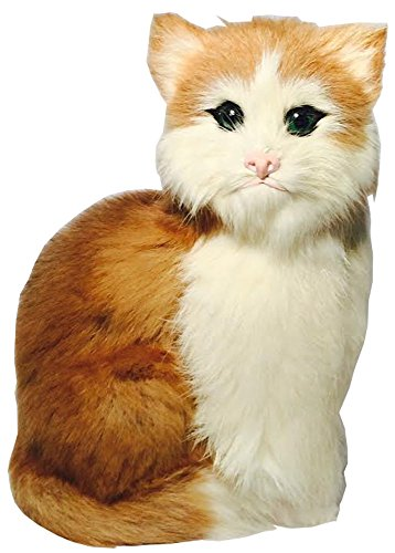 Furry Figurine Fur - Realistic Fur Cat Figurine