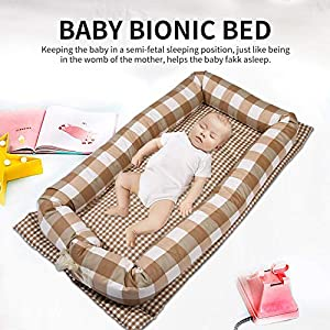 Baby Nest, Baby Pillow Bed Bassinet Newborn Snuggle Toddlers Bionic Bed Cribs Infants Sleep Bed Lounger Soft Breather Portable Cotton