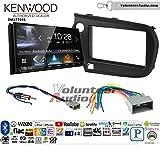 Volunteer Audio Kenwood DMX7705S Double Din Radio Install Kit with Apple CarPlay Android Auto Bluetooth Fits 2009-2011 Honda Pilot
