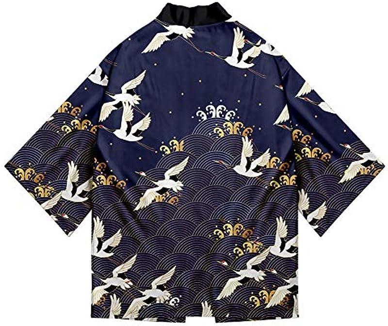 Japanischer Kimono-Strickjacke Hemd XXS-4XL Męskie Kimono Cardigan Top Yukata Kleidung Samurai-Kostüm (Farbe : Style 9, Size : XXL): Küche & Haushalt