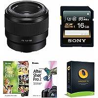 Focus Camera Sony FE 50mm F1.8 Lens, Software, Memory Card Bundle