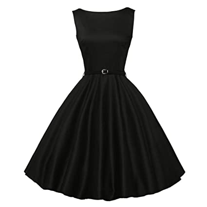 15523ce77ac6 Amazon.com : Dresses for Womens, DaySeventh Women Vintage Bodycon  Sleeveless Casual Retro Evening Party Prom Swing Dress : Sports & Outdoors
