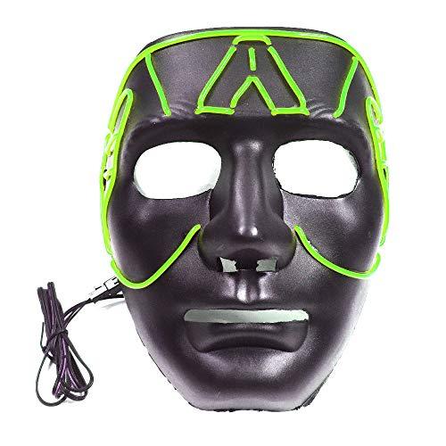LED Mask Halloween Costume Light up Mask Cosplay