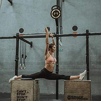 Push-up Fitness Fitnessgamaschen Yoga und Freizeit Abnehmen Ducomi IVY Leggings Damen Sport mit Hoher Taille und Taschen Schlankheitseffekt f/ür Training