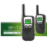 BaoFeng BF-T3 Walkie Talkies for Kids 22 Channel Two Way Long Range Handheld Radio Child kids Walkie Talkie Built-in Flashlight Microphone (2 Pcs) Black