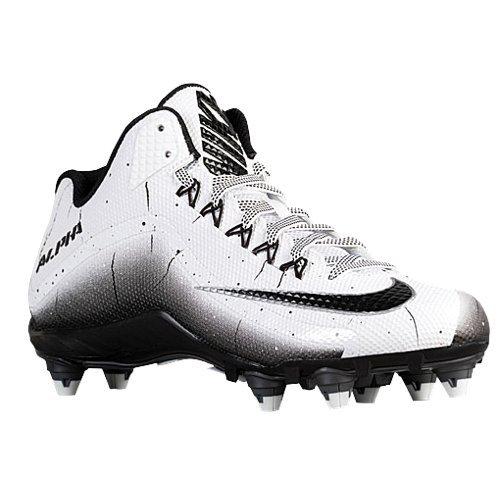 Nike Alpha Pro 2 3/4 D Hombres Desmontable Fútbol Clavos Blanco / Negro / Negro