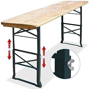 deuba table haute pliable hauteur r glable 180cm table manger table de f tes et pour. Black Bedroom Furniture Sets. Home Design Ideas