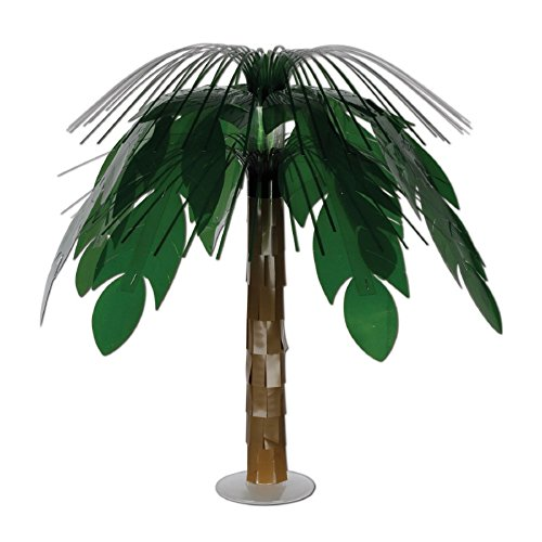 Pack of 6 Green and Brown Jungle Palm