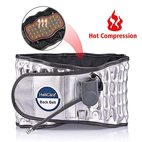 """Lumbar Support Belt with Heat, Decompression Back Belt for Back Brace, Back Pain Relief, Lower Lumbar Support, ONE Size (Waist 29""""-49"""")"""