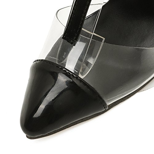 di black alta punta fine con spell con Punta sexy tacchi ammenda alti scarpe ZHZNVX tacco sandali trasparente colore 7PRTw