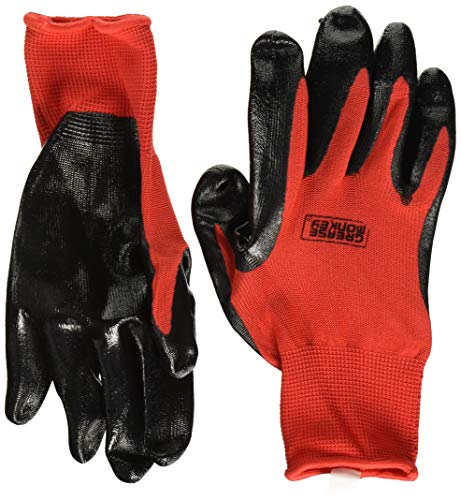 (Grease Monkey Nitrile Coated Work Gloves 12 Pairs LARGE )