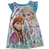 Disney Little Girls Blue Frozen Elsa Anna Olaf Print Nightgown 2T