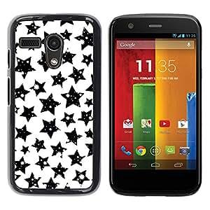 Stuss Case / Funda Carcasa protectora - Stars Black White Sky Night Universe Cosmos - Motorola Moto G 1 1ST Gen I X1032
