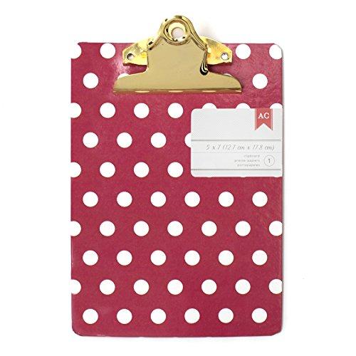 American Crafts 5 x 7 Inch Mini Clipboards Polka Dots -