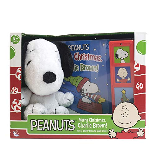 - Peanuts Merry Christmas, Charlie Brown! - Snoopy Plush Included - Play-a-Sound - PI Kids
