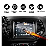 2017 2018 Jeep Compass Uconnect Touch Screen Car Display Navigation Screen Protector, RUIYA HD Clear TEMPERED GLASS Car In-Dash Screen Protective Film (8.4-Inch)