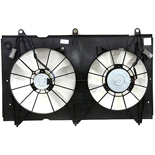 Radiator Fan Assembly for Honda Accord 03-07 Dual Fan 4Cyl Denso Type Manual/Automatic Transmission