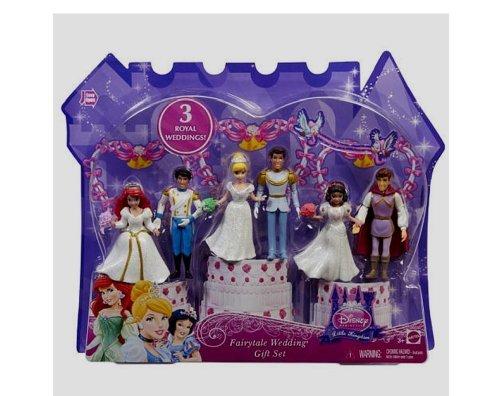 Disney Princess Fairytale Wedding Gift Set Ariel Cinderella Snow White Set Cake Topper
