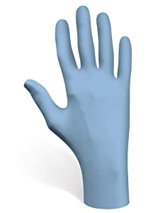 SHOWA 6050PF Nitrile Disposable Powder Free Chemical Resistant Safety Glove, Medium, 1 Box of 100 Gloves