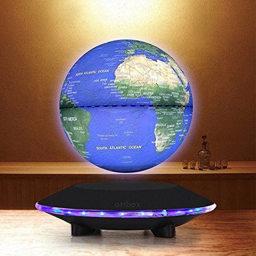 Touch control 6inch floating globe with led lights magnetic touch control 6inch floating globe with led lights magnetic levitation floating globe world map for gumiabroncs Images