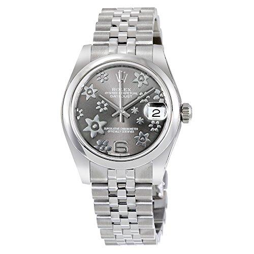 Rolex Datejust 178240RFJ - Reloj de pulsera automático para mujer con esfera de rodio floral 31