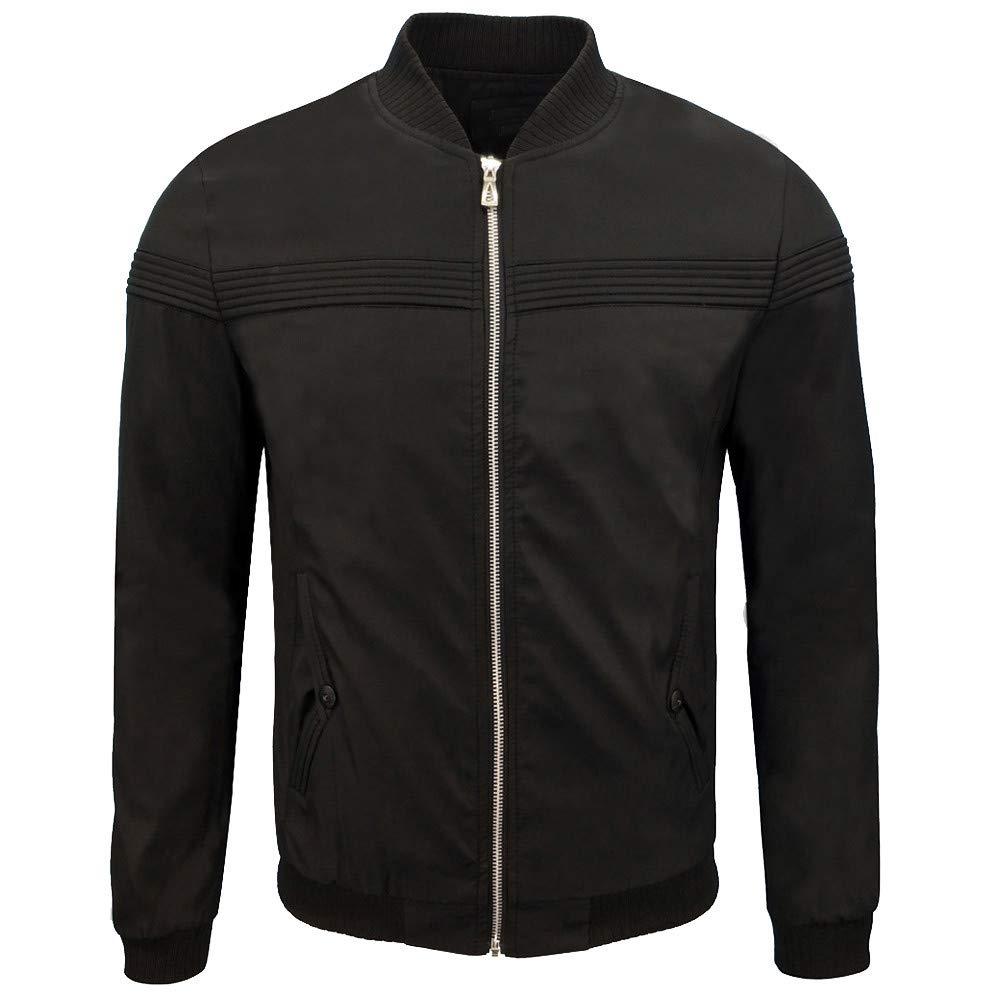 Nevera Winter Jacket,Men's Casual Solid Biker Motorcycle Zipper Outwear Coat