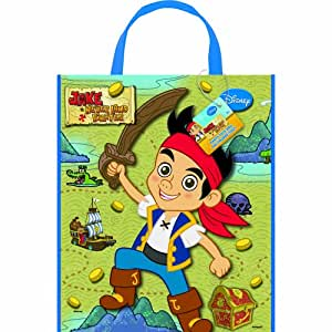 "Large Plastic Jake and the Never Land Pirates Goodie Bag, 13"" x 11"""