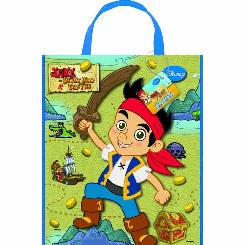 Jake And The Neverland Pirates Halloween Bag - Large Plastic Jake and the Never