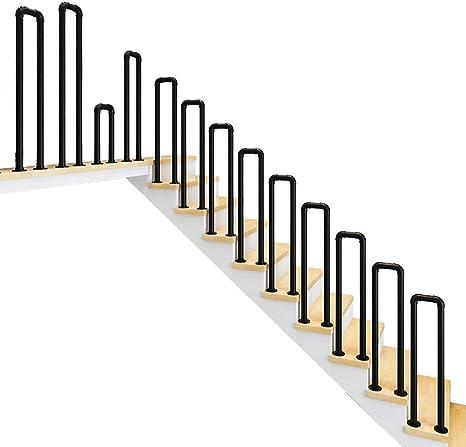 YUDE-U Barandilla de Escalera de Hierro Forjado Tipo, tubería galvanizada, barandilla de Seguridad con Forma de tubería de Agua Personalizada, Adecuada para escaleras, Barra: Amazon.es: Hogar