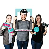 Big Dot of Happiness 50's Sock Hop - 1950's Rock N Roll Party Selfie Photo Booth Picture Frame & Props - Printed on Sturdy Material