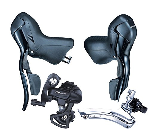 Microshift Shifters Sb-r472 7 Speed Road Bike Bicycle Groupset for Shimano &Sram