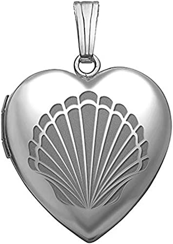 1//2 inch Tall Sterling Silver Sea Shell Pendant