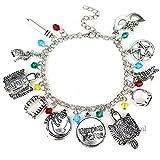 BlingSoul Vampire Dairies Bracelet Jewelry - Merchandise Jewelry for Girls (Silver)