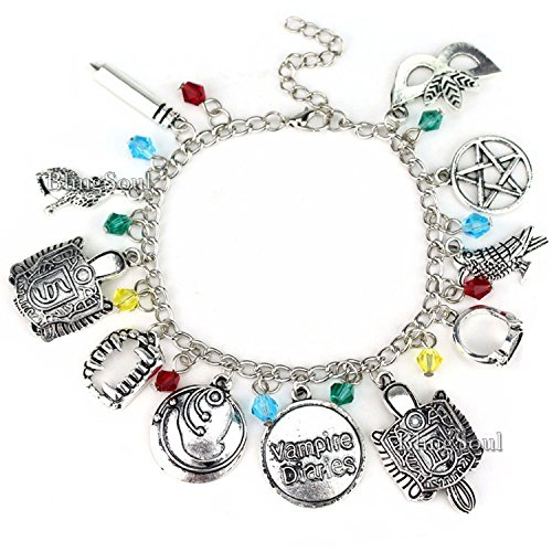 The Vampire Diaries Charm Bracelet - Damon Bracelets Gifts Jewelry Merchandise For Women -