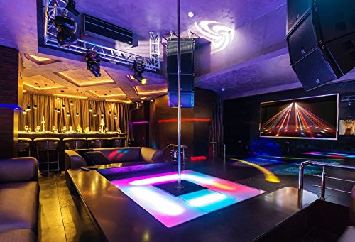 Yeele 7x5ft Nightclub Backdrop Dance Pole Bar Club Interior Dancefloor Ballroom Sexy Striptease Nightlife Background for Photography Portrait Photo Booth Video Shooting Vinyl Photocall Studio Prop