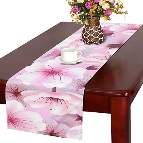 INTERESTPRINT Table Runner for Dinner Parties, Events, Decor Cherry Blossom 14 by - Event Blossom