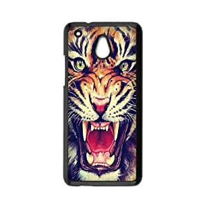 HTC One Mini Case,Tiger Roar Hipster Quote Hign Definition Wonerful Design Cover With Plastic Protective Hard Case