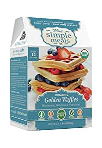 Kim's Simple Meals Golden Waffle & Pancake Mix, Organic, Gluten Free, Vegan, Non GMO, Kosher, 11.4 oz Box (Pack of 6)