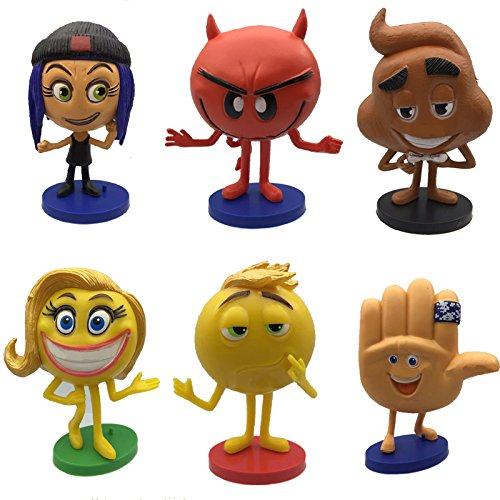 6pcs/set The Emoji Movie Action Figures Crazy Happy Devilicious Gimmie Not Easy Being Meh Models Collection Toys