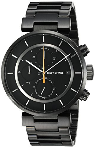 ISSEY MIYAKE Men's SILAY002 W Black Stainless Steel Bracelet Watch