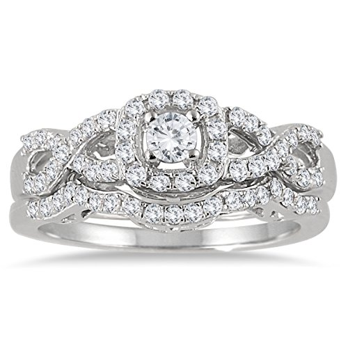 ags-certified-3-4-carat-tw-diamond-infinity-bridal-set-in-10k-white-gold-k-l-color-i2-i3-clarity