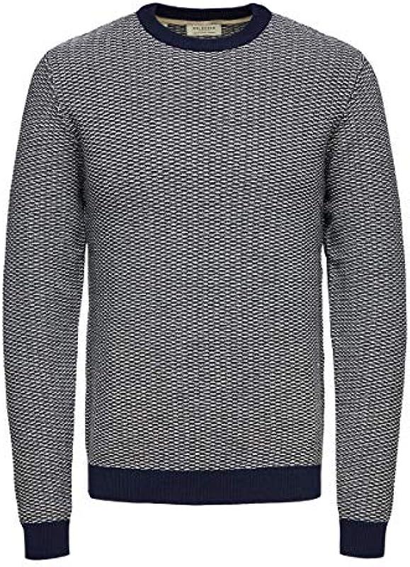 SELECTED HOMME Męski sweter z bawełny ekologicznej: Odzież