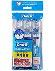 Oral-B CrossAction Pro-Health 7 Benefits Toothbrush, Soft, 3ct