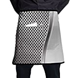 Guiping Metal Background With Square Shaped Grid Speaker Featured Industrial Iron Kitchen Apron With Pockets For Men And Women