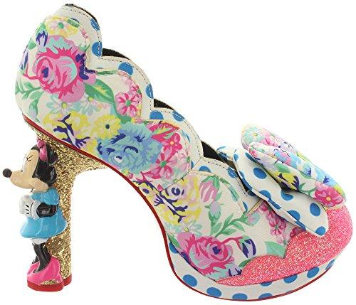 Irregular Choice - Zapatos de vestir de Piel para mujer blanco multicolor