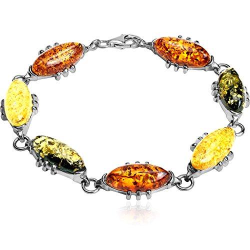 Noda Bague Marquise en argent sterling Bracelet 19cm