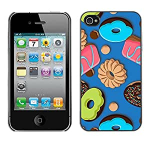Planetar® ( Royal Blue Candy Bites ) iPhone 4 / 4S Fundas Cover Cubre Hard Case Cover