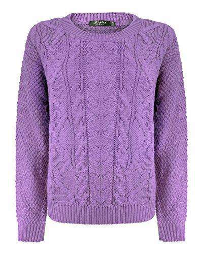 TOP VENDOR - Jerséi - suéter - Manga Larga - para mujer negro morado Large / X-Large